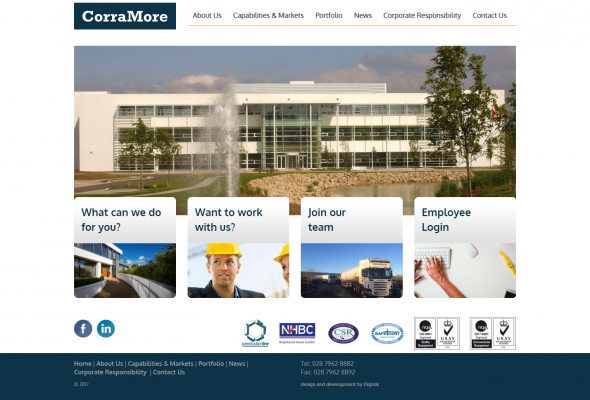 Corramore Website Design  & Development