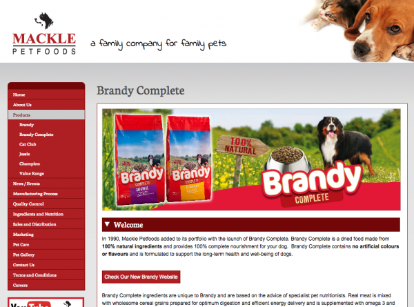 Web Development & Content Management System for Mackle Petfoods